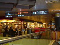 Bookstore and signs in Changi Airport